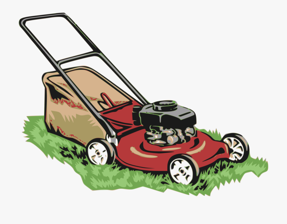 vector transparent stock Mowing clipart lawn equipment. Red lawnmower mower transparent.