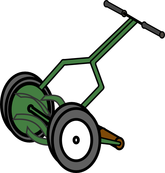 image library library Lawn mower clipart grass cutter. Cartoon push reel clip.