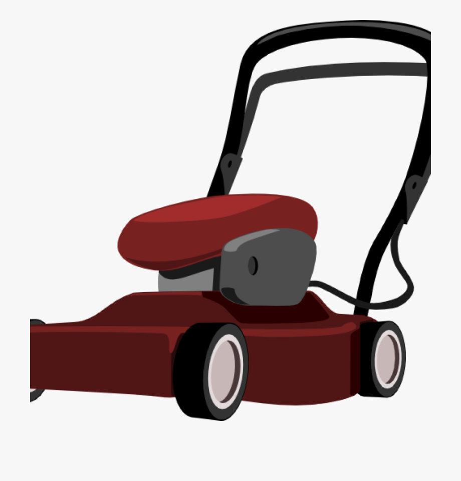 jpg library download Lawn mower clipart grounds maintenance. Free hand hatenylo funny.
