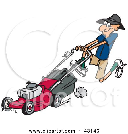 picture royalty free Lawn mower clipart lawnmower man. Free clip art downloads.