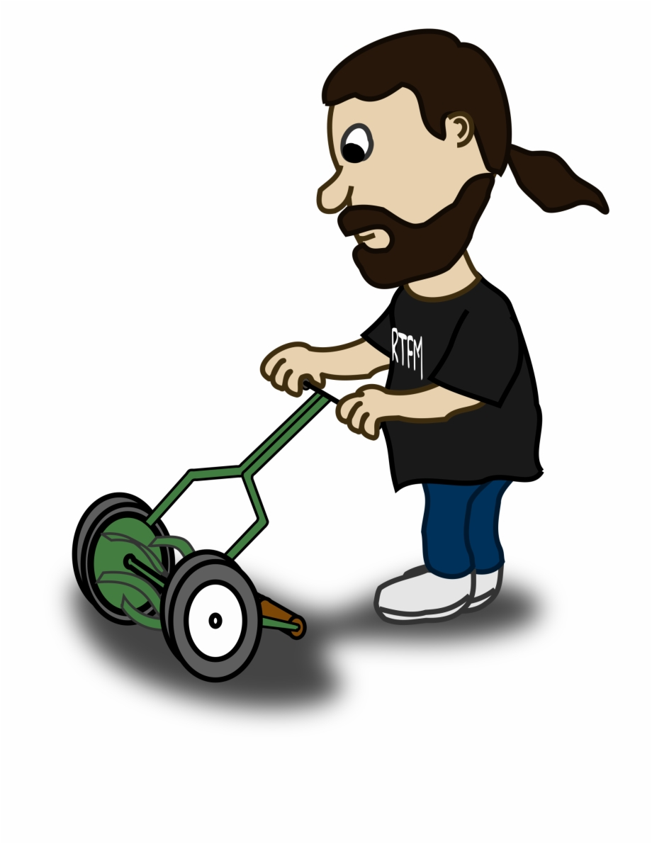 clip free library Lawn mower clipart lawnmower man. Guy mowing cartoon .