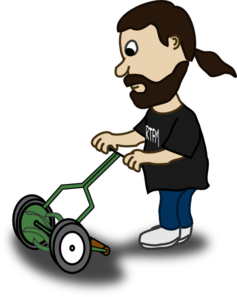 clipart library Pushing clip art at. Lawn mower clipart lawnmower man.