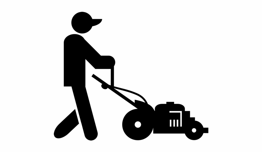 svg library download Clip art black . Lawn mower clipart lawnmower man.
