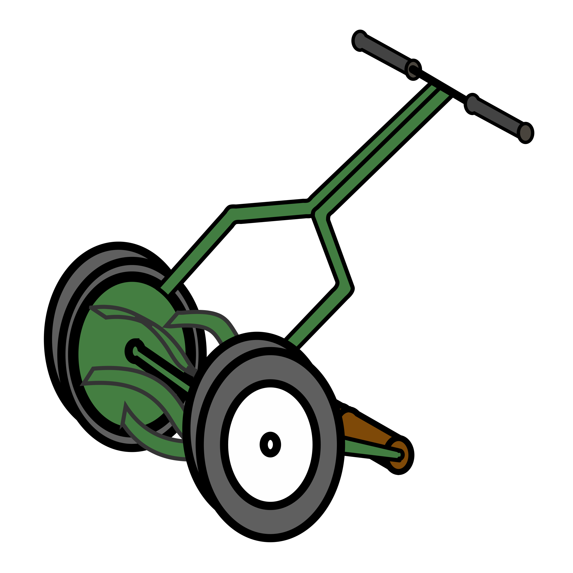 vector library Mowing clipart edger. Traditional push reel mower.