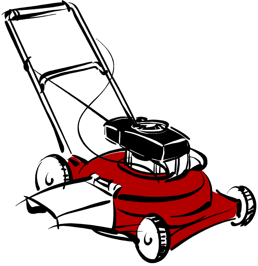 clipart transparent Lawn mower clipart yard work.  collection of transparent.
