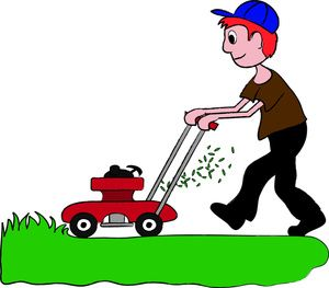 royalty free library Lawn mower clipart yard work. Pin on artwork .