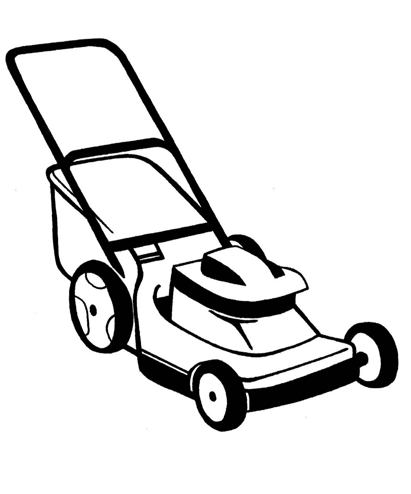 png black and white Lawnmower clipart.  clip art clipartlook