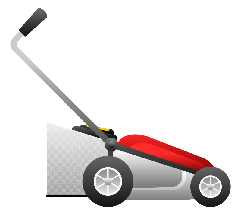banner black and white download Lawn mower silhouette at. Mowing clipart grass cutter.