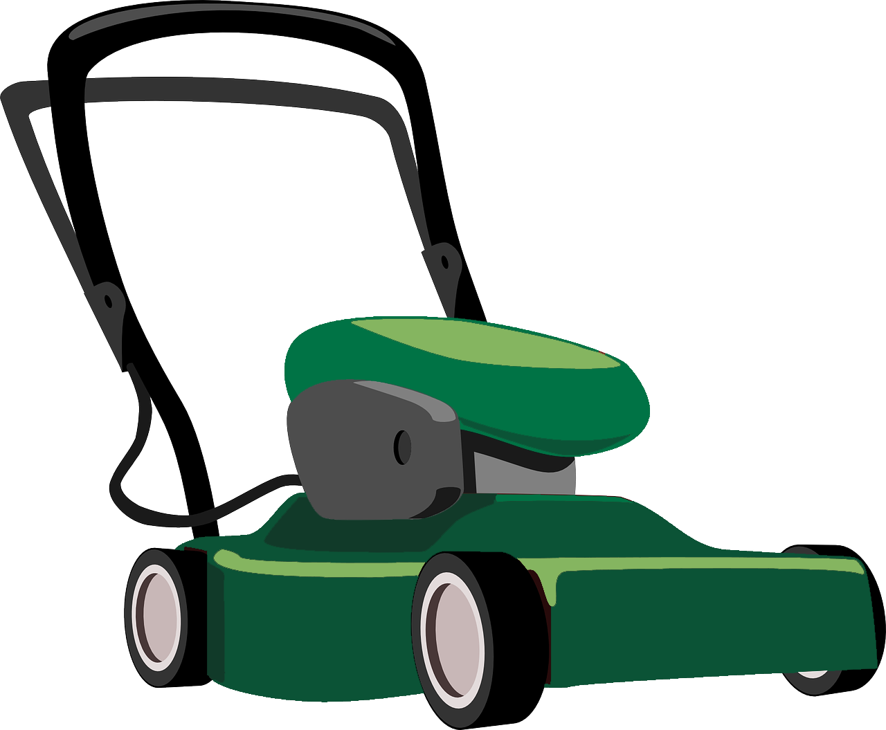 royalty free library The garden co quality. Lawnmower clipart green.