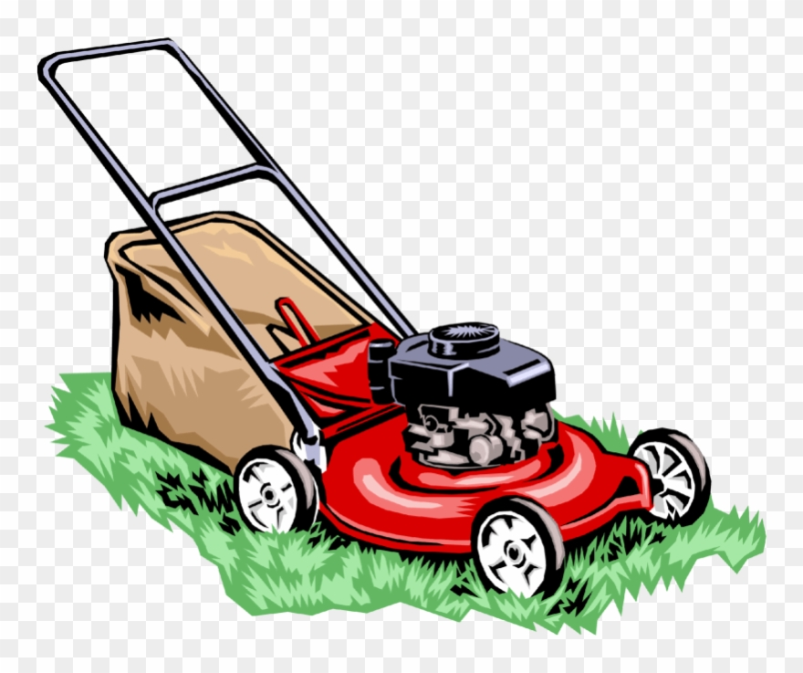 graphic freeuse download Lawnmower clipart lawn work. Library bill s garden