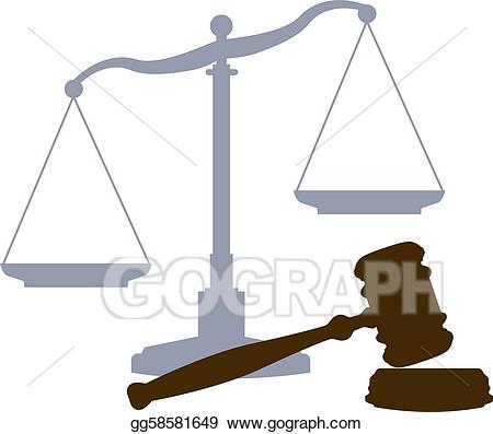 jpg stock Vector stock scales gavel. Laws clipart legal system.