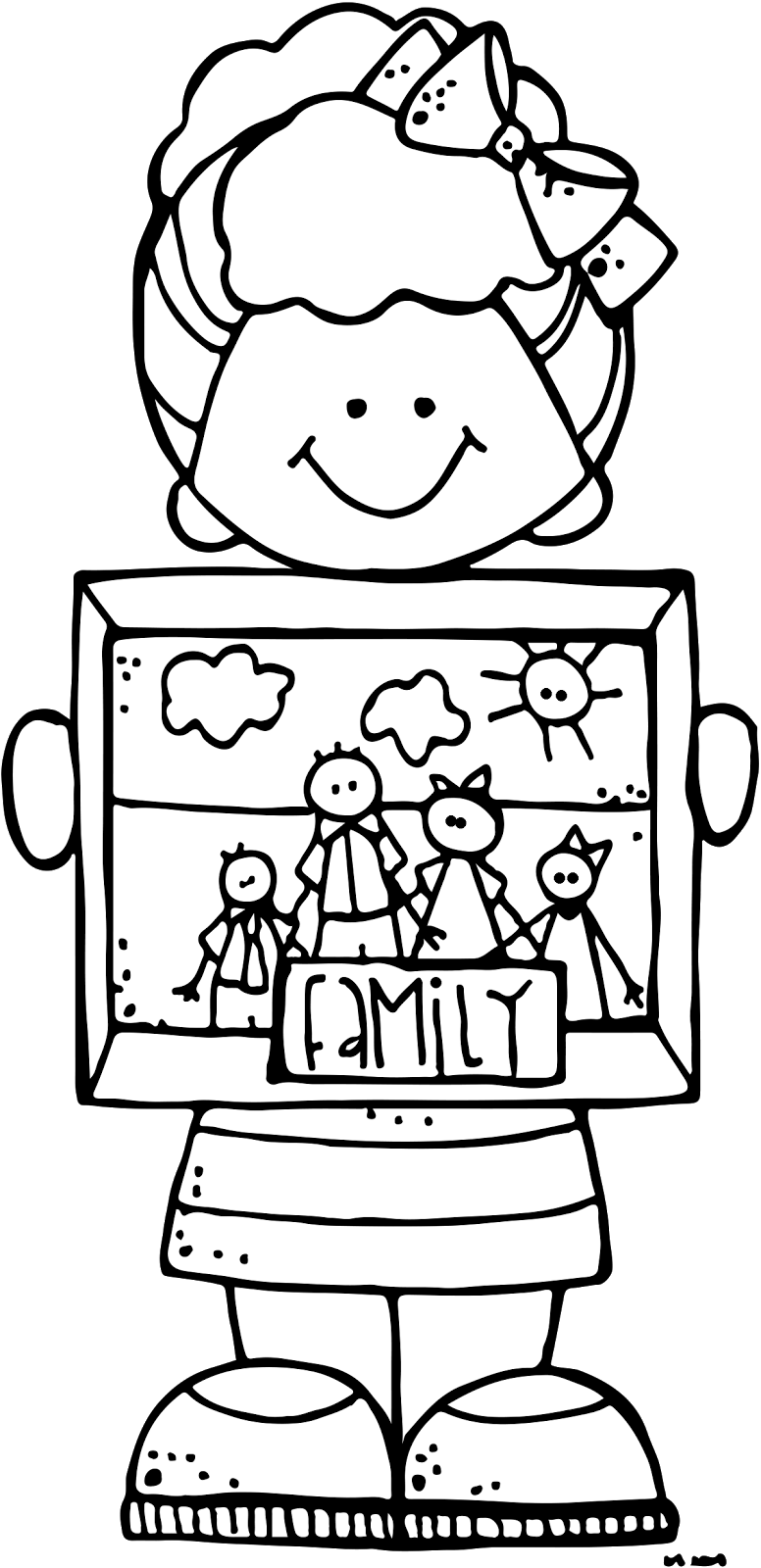 clip art download Melonheadz illustrating light the. Lds family clipart black and white