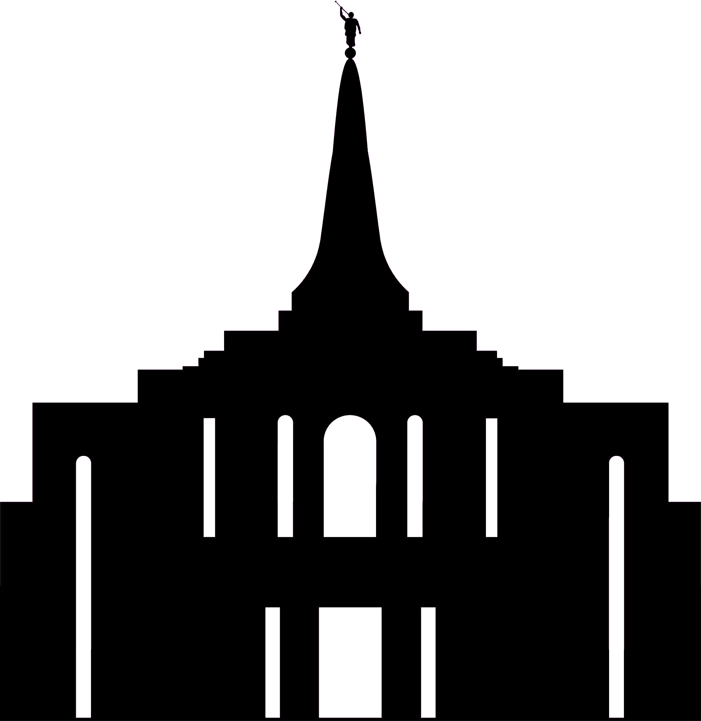 graphic library library Gilbert png file could. Lds temple clipart black and white