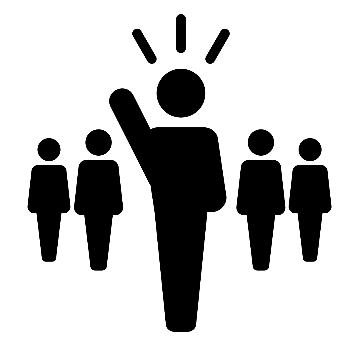 image transparent download Leader clipart black and white. Leadership icon png .