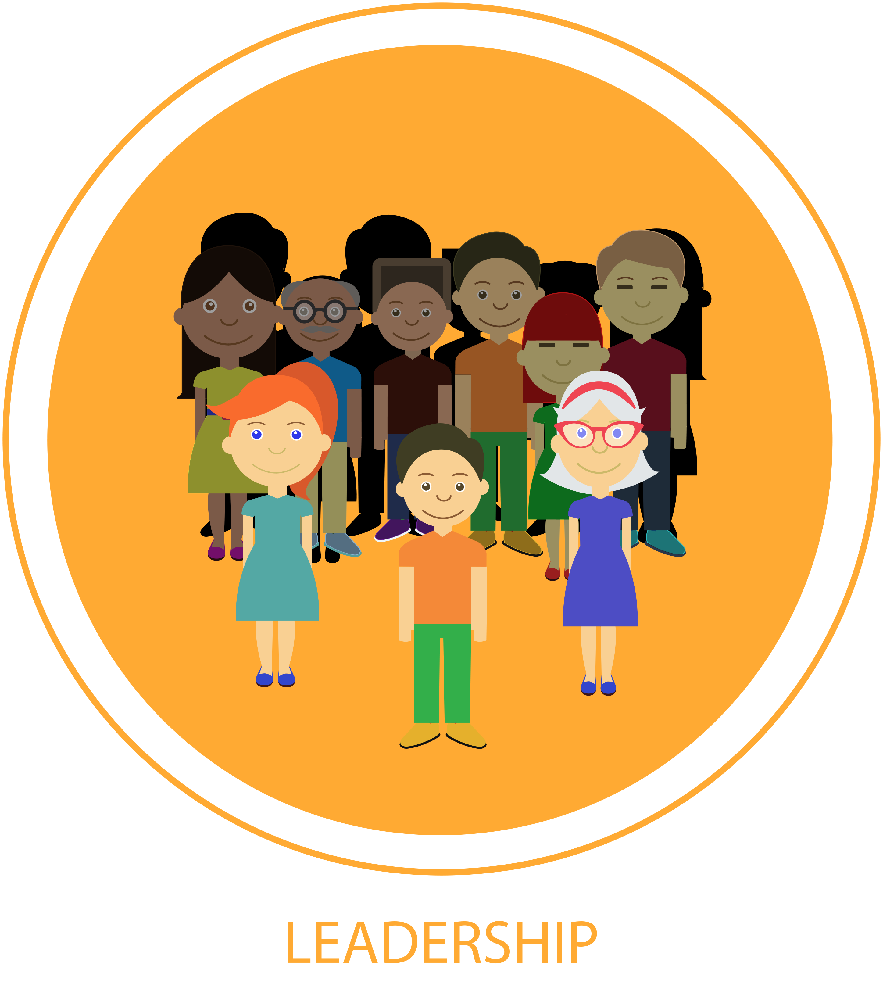 svg royalty free International standards for community. Leadership clipart personal quality.