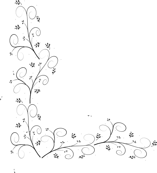 picture Leaf border clipart black and white.  collection of high
