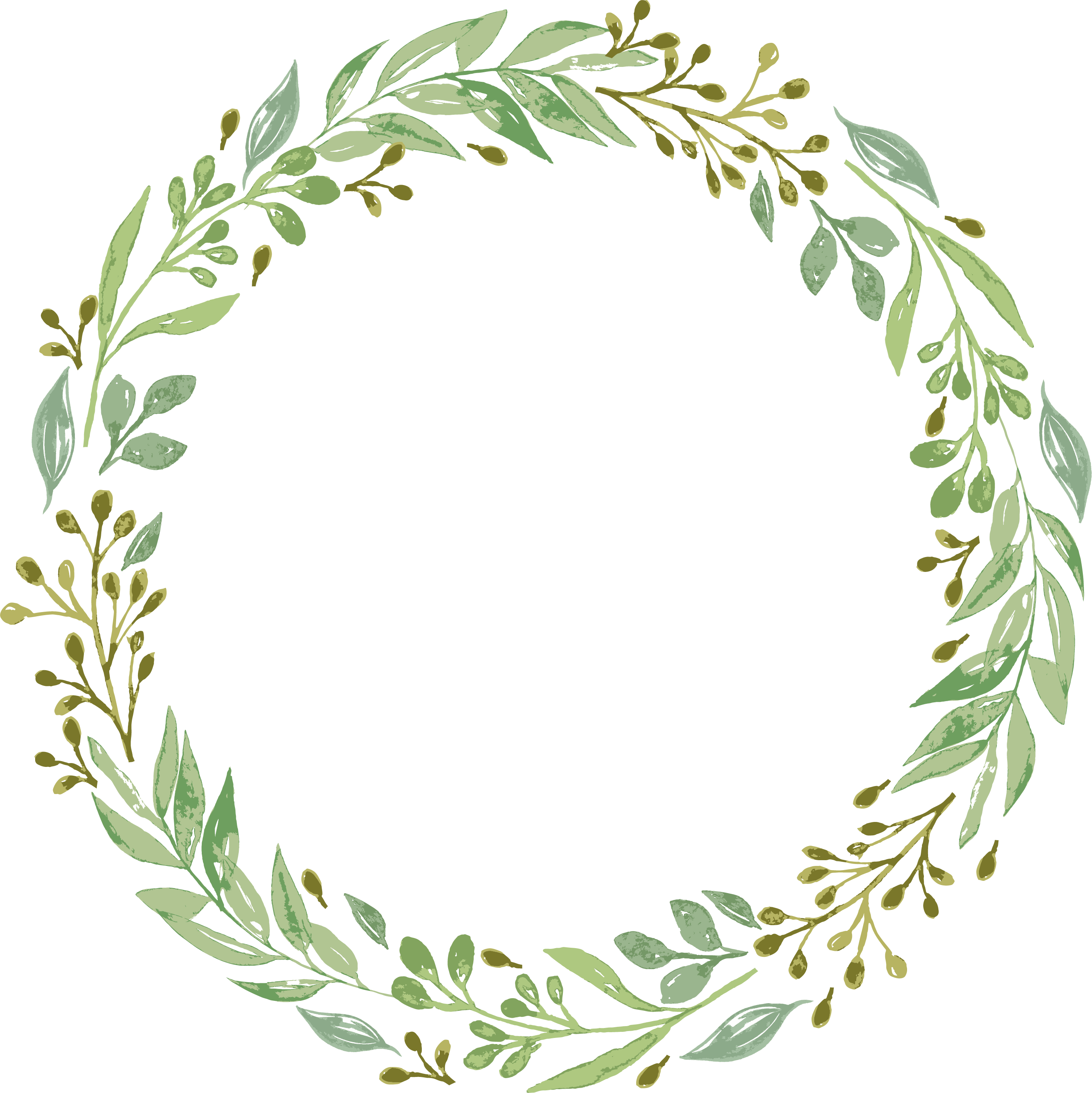 jpg freeuse stock Wedding invitation garland clip. Green wreath clipart
