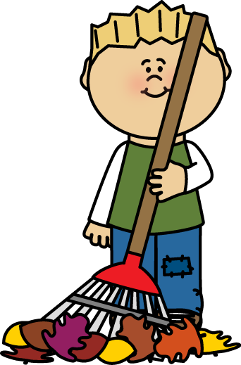 clip royalty free library Raking Leaves Clipart