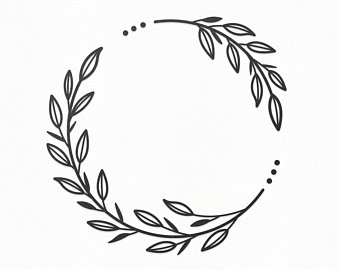 image transparent download Etsy . Leaf wreath clipart