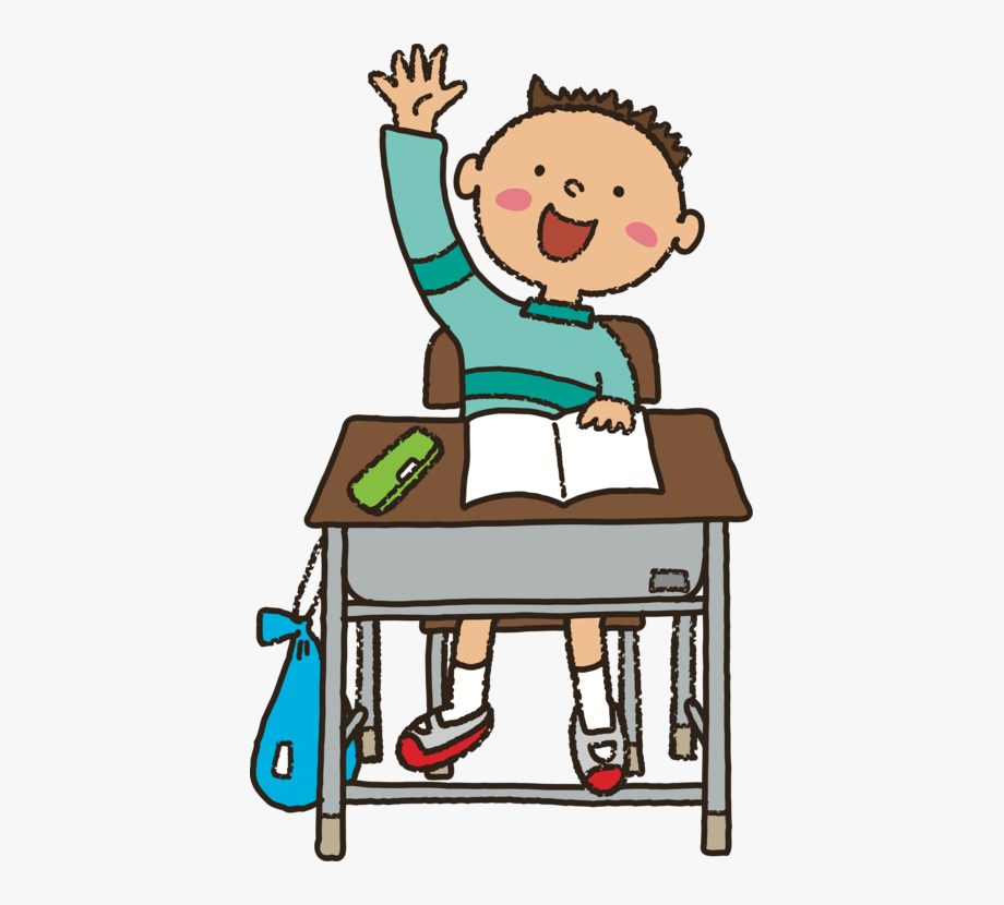 clip transparent library Student raising hand . Learn clipart girl.