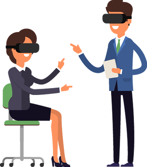 graphic library library Virtual reality free on. Learning clipart customer service training.