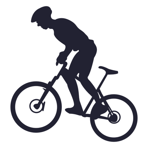 svg black and white stock Riding mountain bike