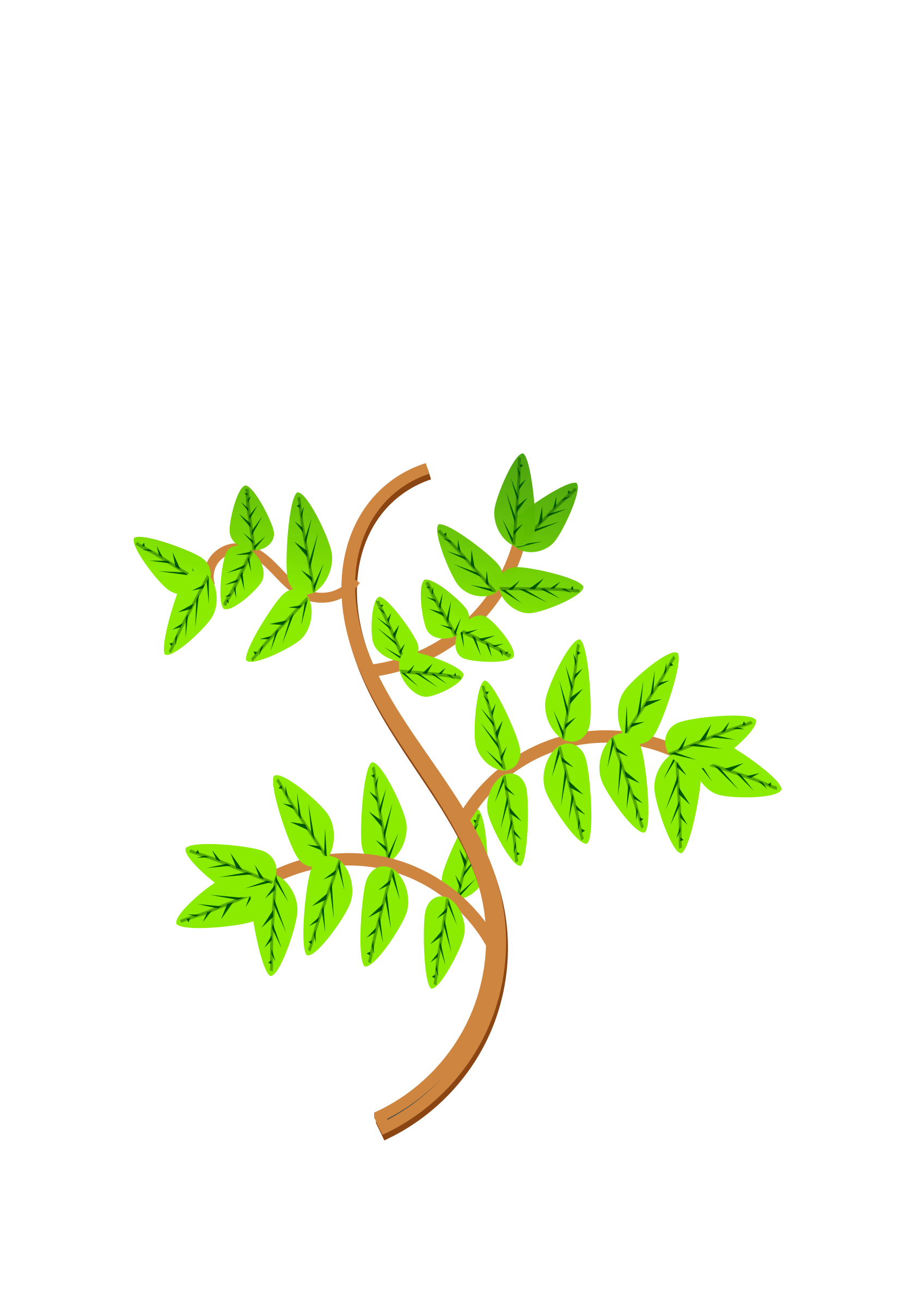 clip transparent Leaves clipart branch. And branches big image.
