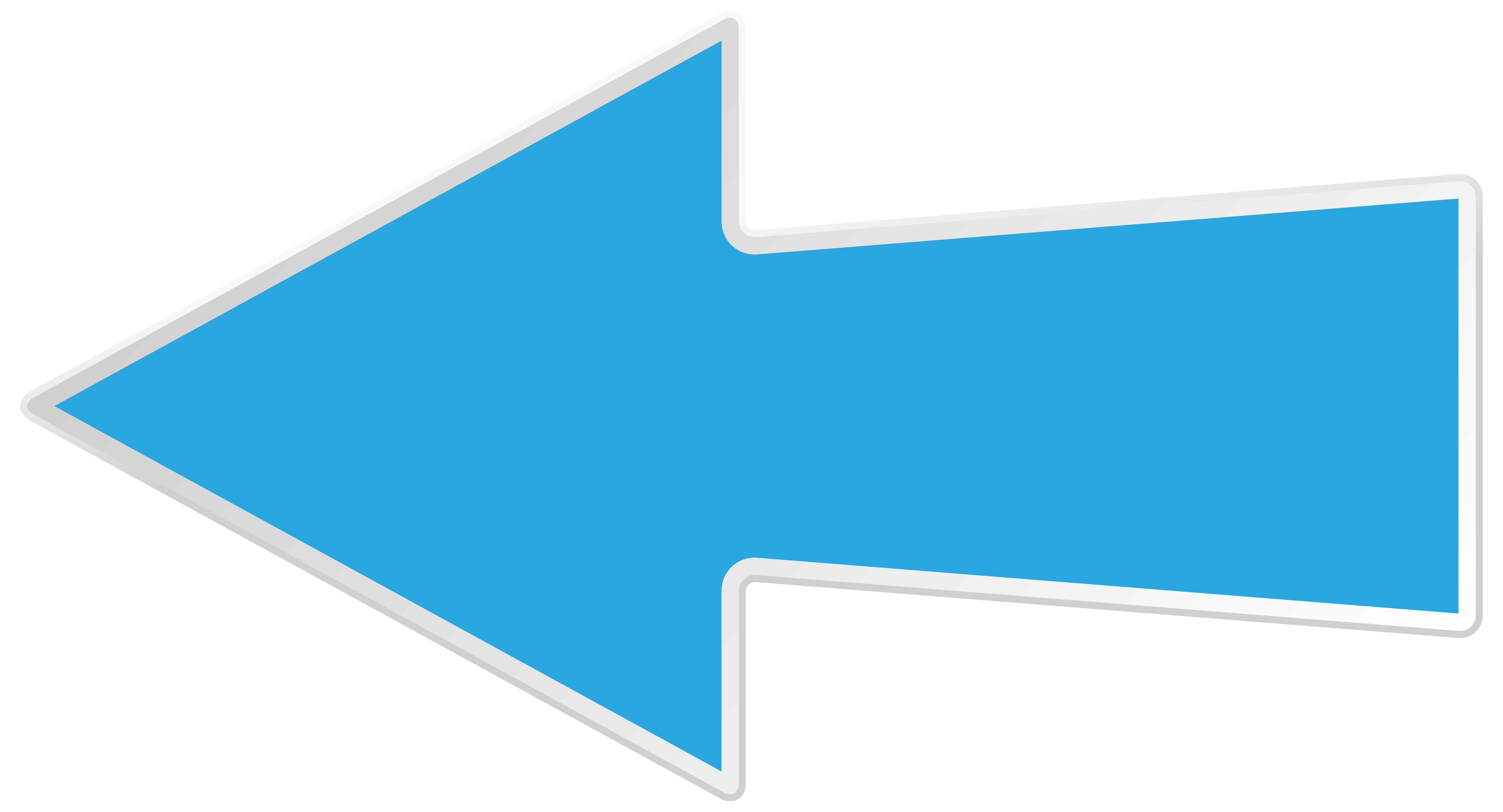 png black and white download Blue transparent png clip. Left arrow clipart.