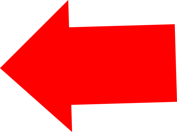 picture free stock Red clip art at. Left arrow clipart.