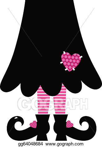banner freeuse library Legs clipart cute. Vector stock valentines witch.