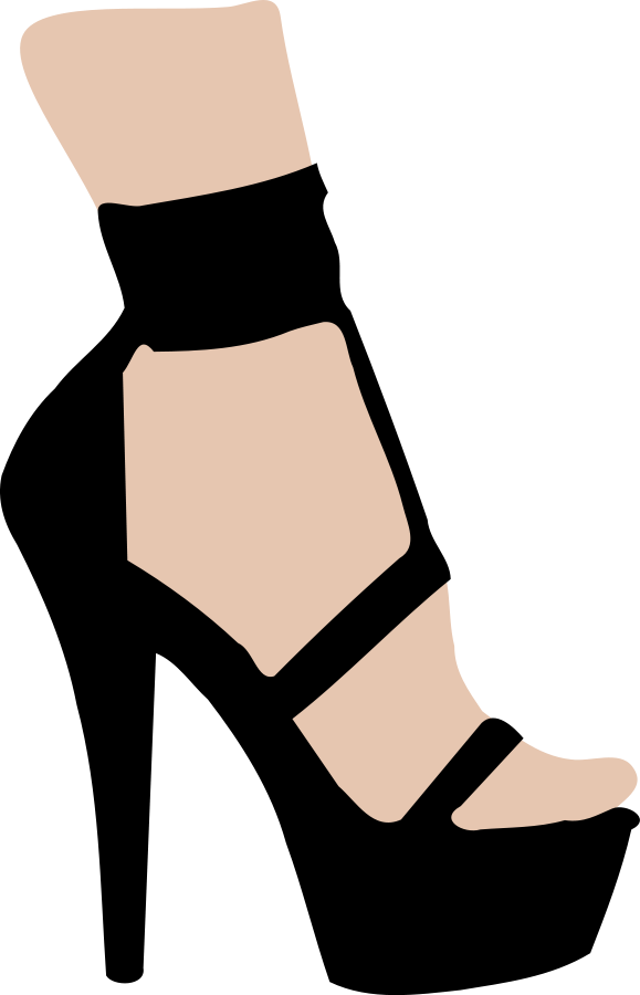 graphic free Legs clipart heel silhouette. High clip art at.