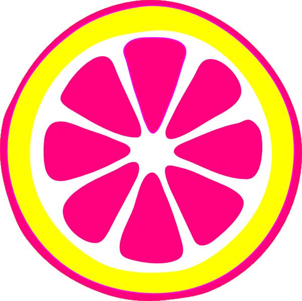 picture transparent download Bright pink . Lemon clipart lemon slice.