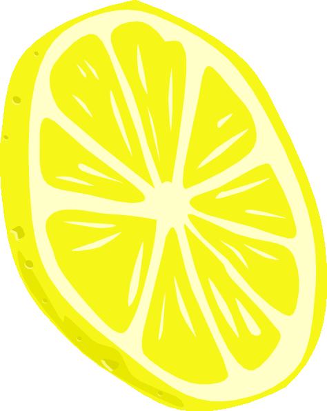 picture black and white library Clip art at clker. Lemon clipart lemon slice.
