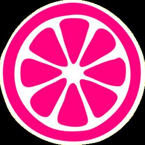 jpg royalty free stock Pink clip art at. Lemon clipart lemon slice.