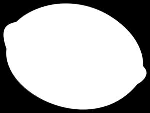 image black and white stock Lemon Outline Clip Art at Clker