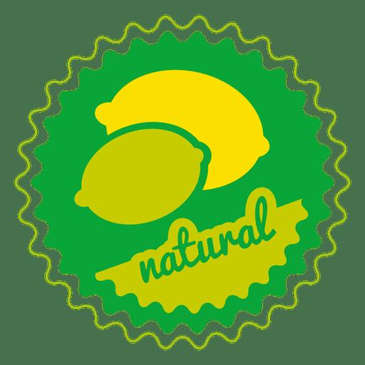 clip art freeuse stock Lemon natural circle badge