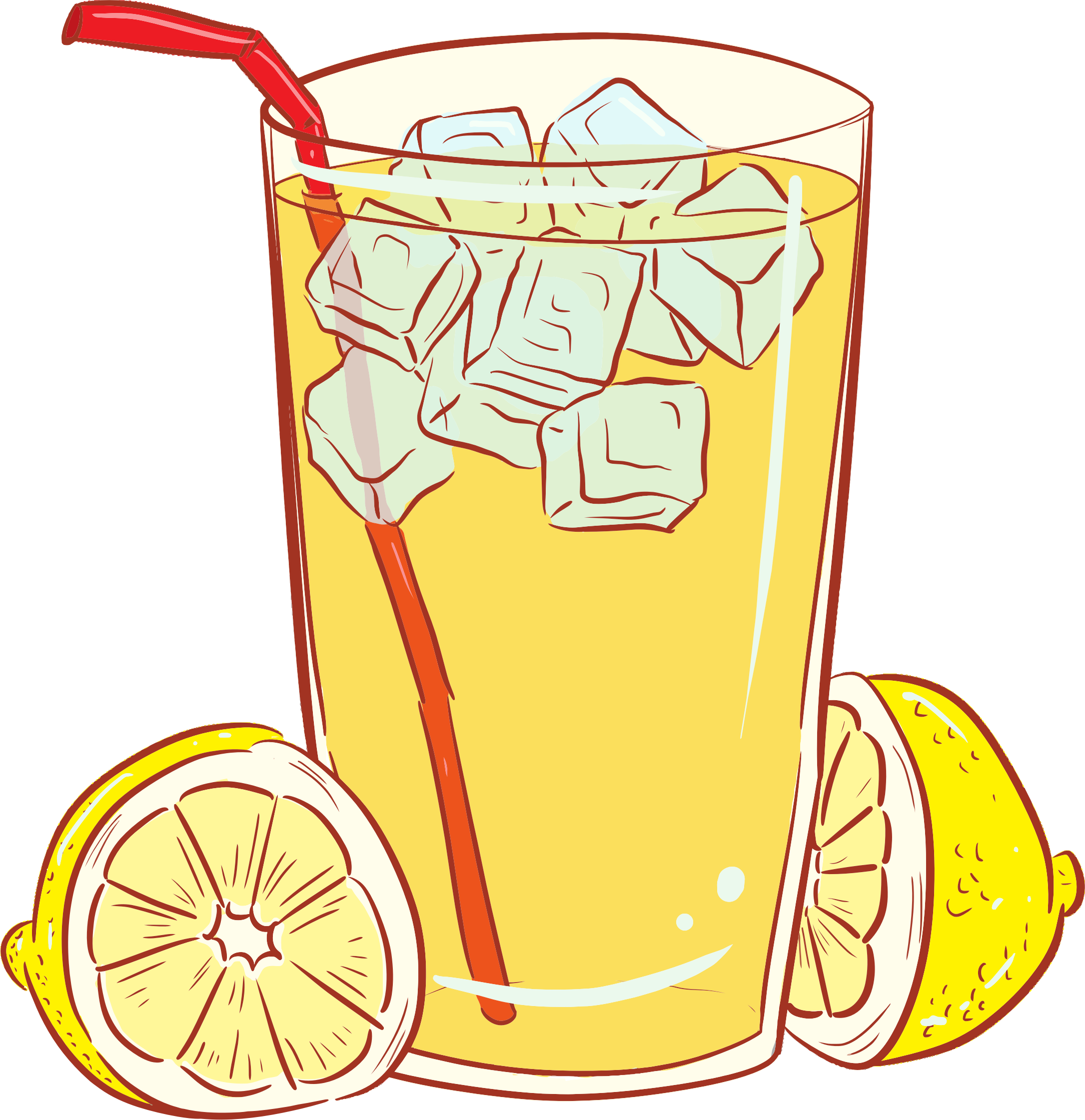 image free download Cold glass of big. Lemonade clipart black and white