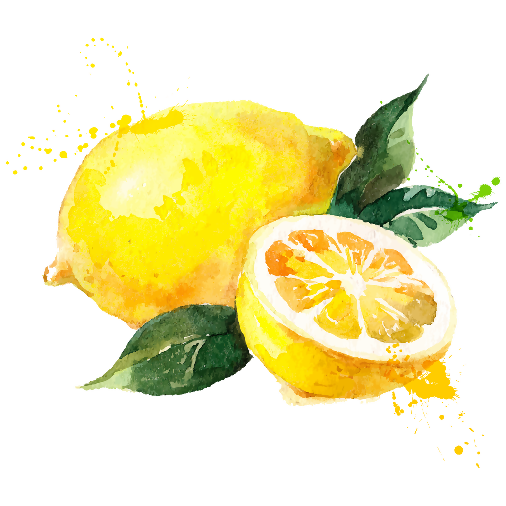 svg transparent library Watercolor painting Lemon Royalty
