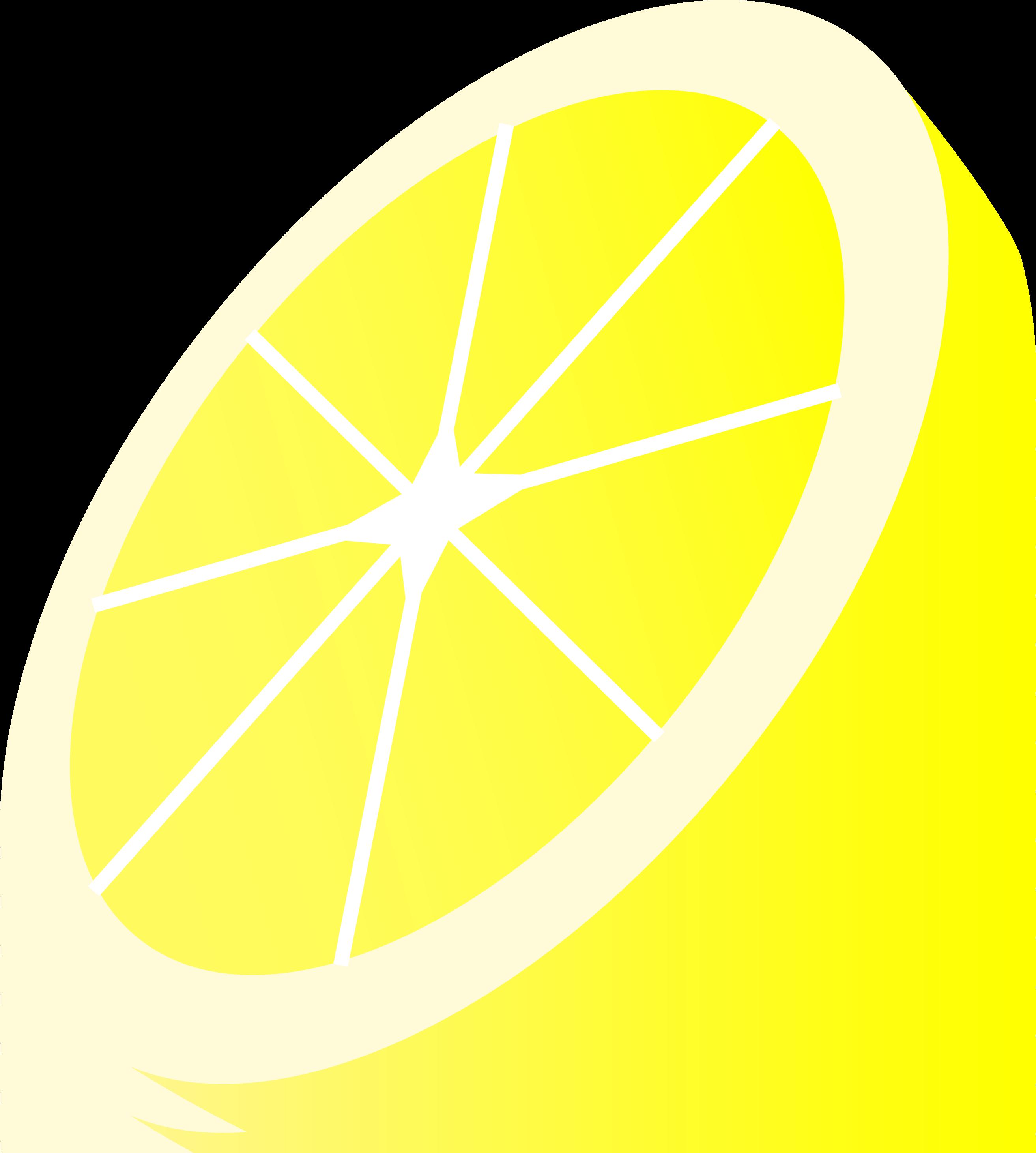 image royalty free stock Round Yellow Lemon Slice