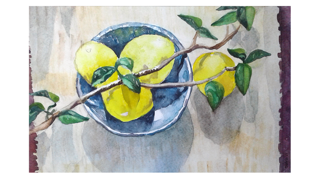 vector royalty free library  lemons free copy. Drawing technique watercolor
