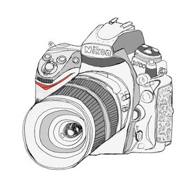 graphic library X free clip . Lens clipart sketch camera.