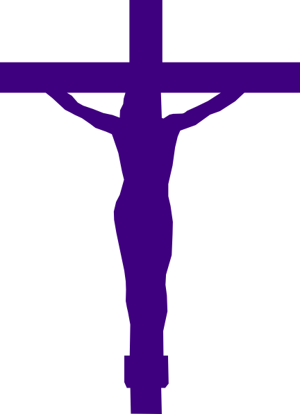 svg royalty free stock Lent clipart violet. Jesus christ on cross.