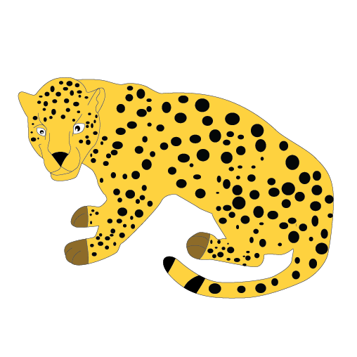 png free stock Yellow panda free images. Leopard clipart.