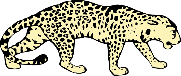 graphic black and white stock Transparent background free on. Leopard clipart.