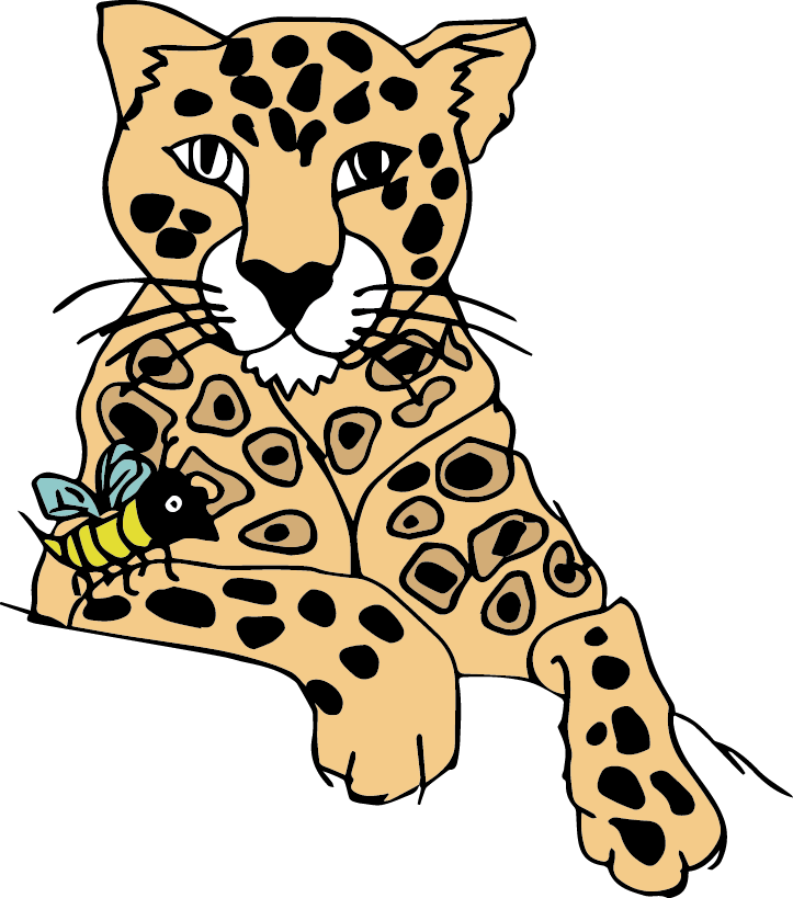 clip art download Leopard clipart black and white. Clouded at getdrawings com.