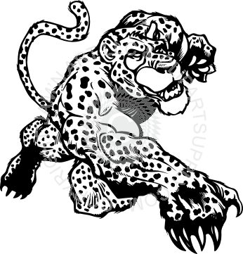 clip art black and white download Leaping free on dumielauxepices. Leopard clipart illustration.
