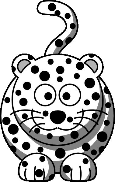 clip art black and white download Leopard clipart illustration. Clip art at clker.
