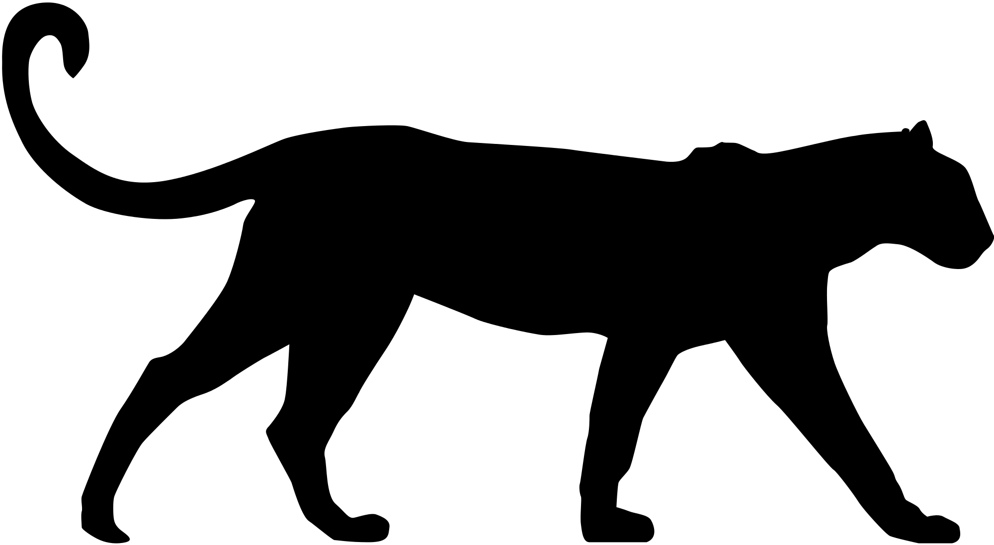 banner free File leopard profil svg. Wildcat vector silhouette