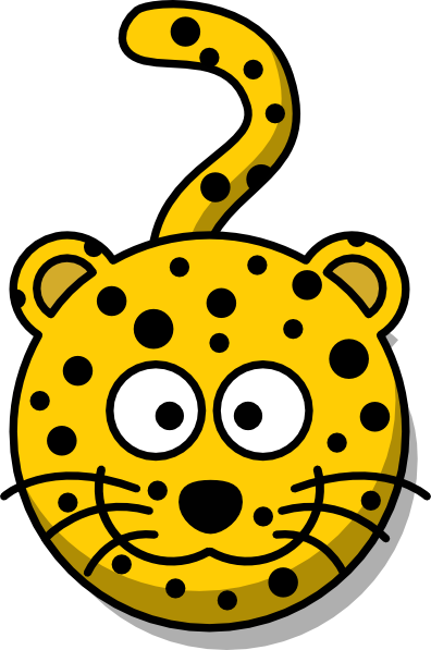 graphic black and white download Head with clip art. Leopard clipart tail.