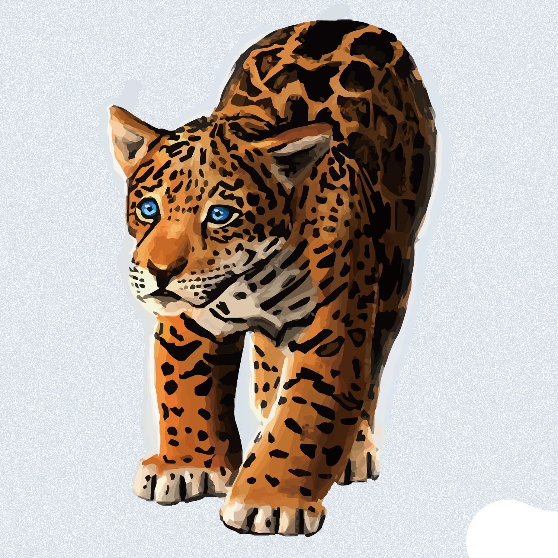 clipart royalty free download Jaguar tiger black panther. Leopard vector